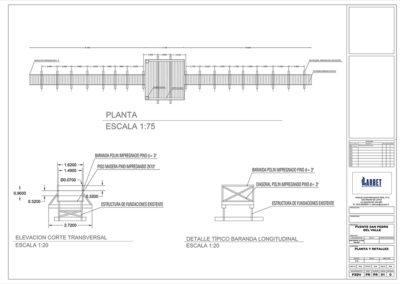 Arbet Ingeniería & Construcción. Cálculo estructural Puente Peatonal, San Pedro de la Costa.