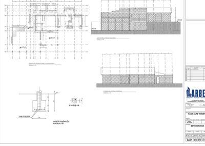 Arbet Ingeniería & Construcción. Cálculo estructural Casa Alto Dibueno, Florida. PRIMER Y SEGUNDO PISO