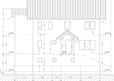 Arbet Ingeniería & Construcción. Cálculo estructural Casa Fischer, Puerto Varas. ELEVACiONES.