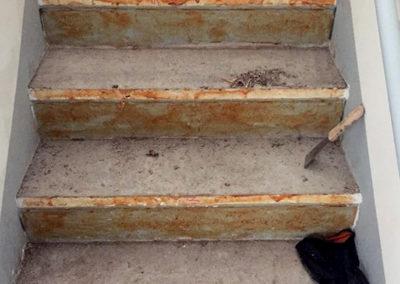Arbet Ingeniería & Construcción. Reparación y desbaste escalera Jardín Vitamina Mall Plaza Trébol, Talcahuano.